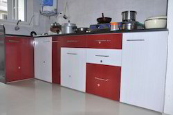 3 Feet L Shape PVC Modular Kitchen