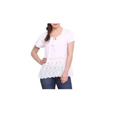 White Cotton Cambric Top