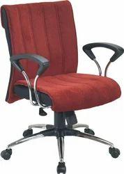 Decorative Maroon Revolving Chair