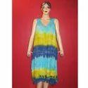 Ladies Rayon Crepe Short Dress