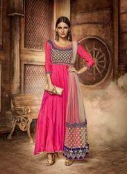 Pink Fancy Anarkali Designer Suit