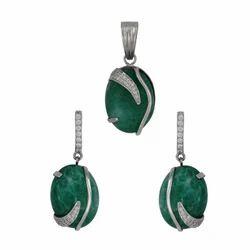 925 Silver Earrings & Pendant Set For Women