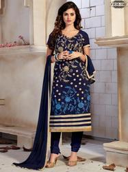 Printed Black Salwar Kameez Designer Cotton Silk Dress Material