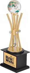 Crystal Globe Metal Trophy
