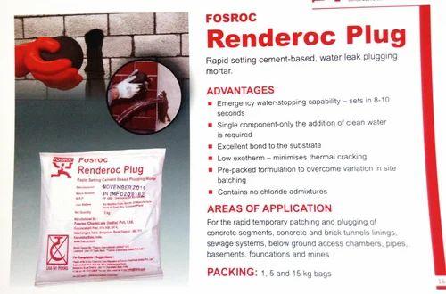 Concrete Aid Fosroc Renderoc Plug Waterproofing