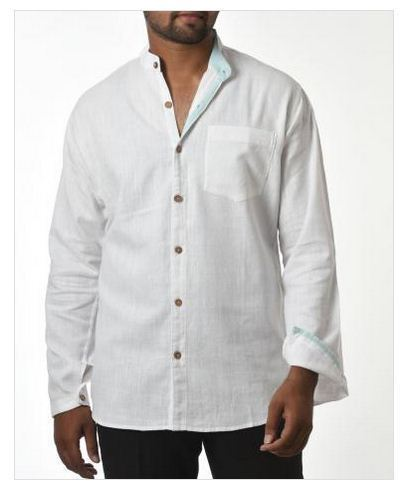 Men's Kadhi Top Vest with Chinese Buttons White DGXaZ