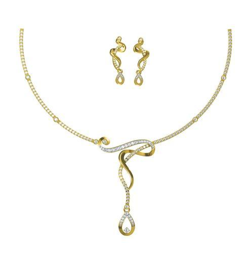 necklace delicate tone y gold icing us