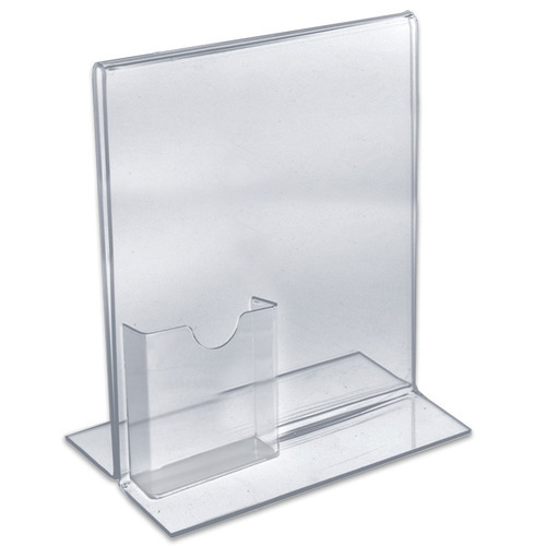 Brochure holder with visiting card holder acrylic brochure holder brochure holder with visiting card holder reheart Choice Image