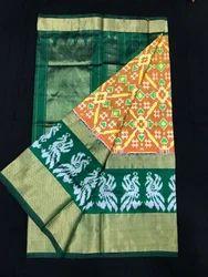 Wedding Wear Ikkat Silk Sarees, With Blouse Piece