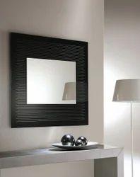Riflessi Black Frame Graffiti Italian Mirror, Size: 83 cm (W) x 83 cm H