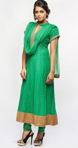 d1a78869eaf Green Chicken Georgette suit at Rs 5990  unit