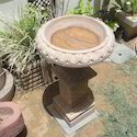 Brown Stone Bird Bath