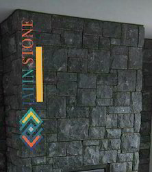Black Lime Stone Rock Finish
