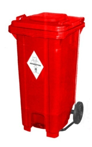 Waste Bin With Wheels And Paddle Wheeled Waste Bin