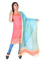 Pink Chanderi Salwar Suit