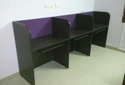 3 Seater Inline Computer Board Workstation Furnitures