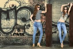 Blue Ladies Party Wear Skinny Fit Jeans, Waist Size: Available Sizes 28 To 40