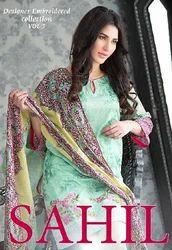 Cotton Party Wear Sahil Vol 5 Embroidered Lawn Suit