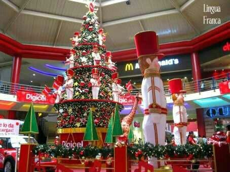 christmas theme decoration in mall