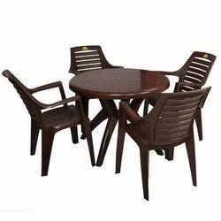 Stylish Plastic Chair Set