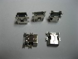 Mini USB Female Connector