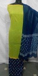 Great Combination Plain Chanderi Suit