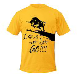 96a616d1265 Yellow Custom Printed T-Shirt
