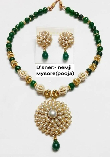 8e917177c68 Necklace Set - Green Pearls Necklace Set Manufacturer from Mumbai