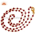 Red Aventurine Beaded Necklace Gemstone Jewelry
