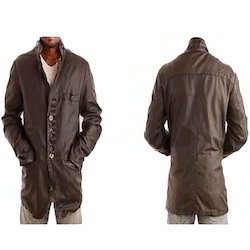 XL Mens Long Leather Jacket