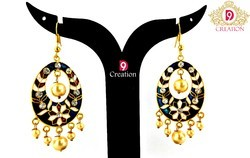 Meenakari Jewellery Earrings in Gold Plated