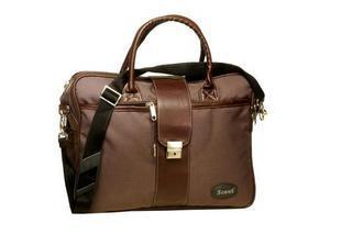 Scout Leather Brown Office Bag
