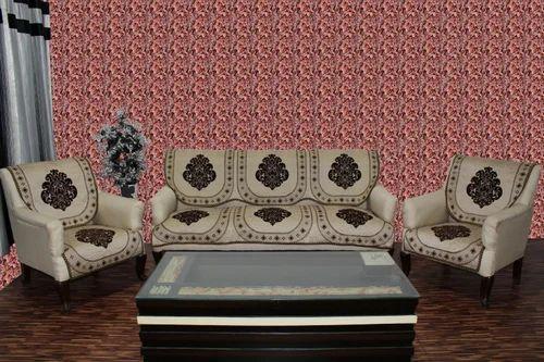 Chenille Sofa Panel Cover Coffee