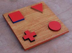 WOOD IMI-1584 Geometric Shape Form Board Set, For HOSPITAL, Packaging Type: Box