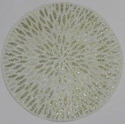 Nirmal Overseas Cream White Leaf Placemat