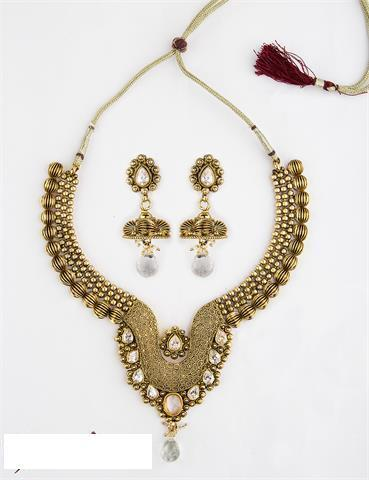 Gold Plated Jewellery - Antique Gold Plated Necklace Wholesaler from Mumbai & Gold Plated Jewellery - Antique Gold Plated Necklace Wholesaler from ...