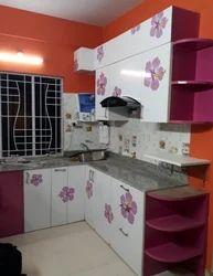 Plywood Solid Surface Kutchina Modular Kitchen, 5yrs