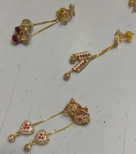 7d5a14ffe Art N Jewels Golden Sui Dhaga Gold Earrings, Rs 3000 /gram | ID ...