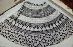 Black and White Wrap Around Skirts