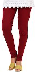 Maroon Cotton Leggings
