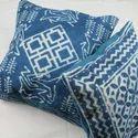 Indigo Cotton Rugs Cushion Cover