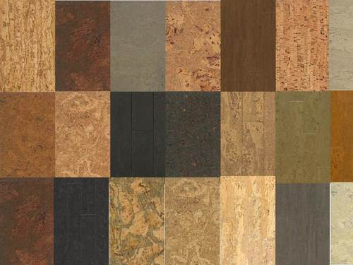 Multicolor Colored Cork Wall Tiles Rs