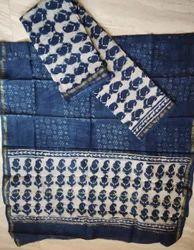 Printed Female Chanderi Dress Material
