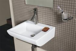 Ceramic Wall Mounted Wash Basin Simpolo, For Bathroom