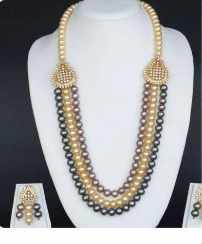 6435968994a28 Moti Chain Pendant Set and Moti Necklace Retailer   Tanisi Designer ...