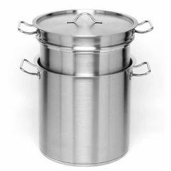 Bharat Vertical Stainless Steel Double Boilers, Working Pressure: 0-5 kg/Sq.cm.g