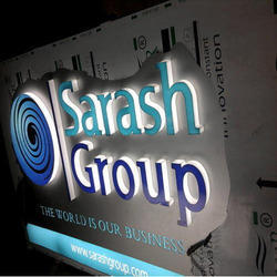 ACP Backlit Signage with Clear Acrylic Letters for Advertising, 110-220v