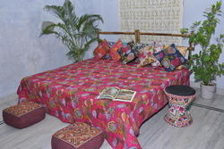 Maa Ambey Printed Kantha Quilt