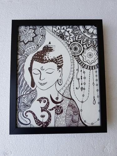 Black And White Canvas Doodle Art, Size: 25 Cm X 25 Cm, Rs ...