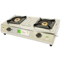 2 Burner Stainless Steel Gas Stove (Silver)